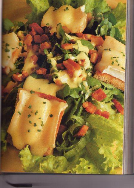 salade au brie