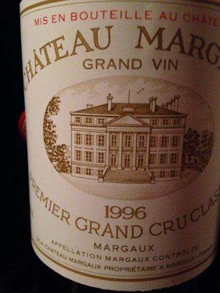 chateau margaux 1996
