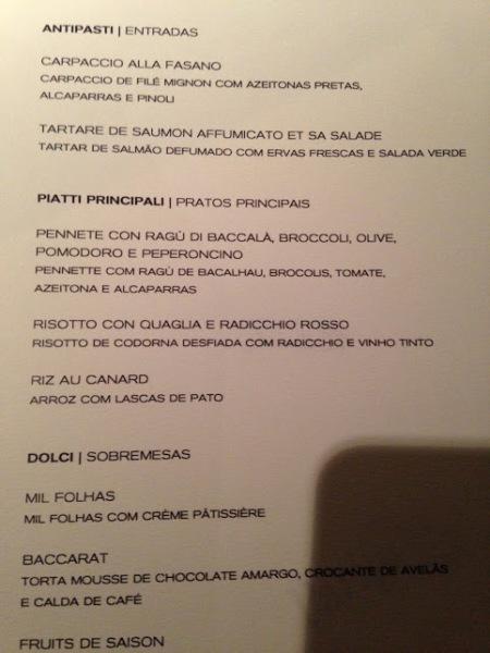 menu parigi vinhos lisboa