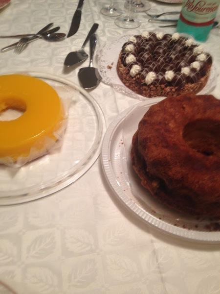 quindim, torta e bolo
