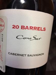 world wine conosur 20 barrels cabernet