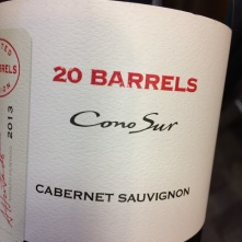 world wine conosur 20 barrels cabernet