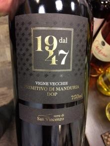world wine primitivo di manduria 1947