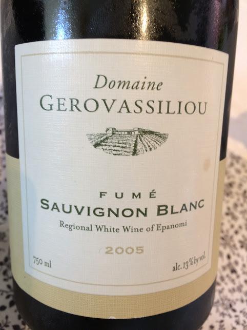 gerovassiliou sauvignon blanc 2005