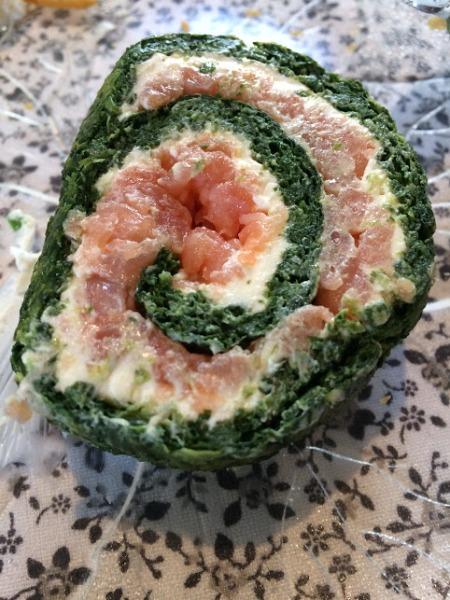rondelli de salmão defumado