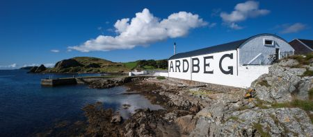 Ardbeg Distillery and new on site accommodation on Islay in the Inner Hebrides.