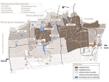 la romanee mapa