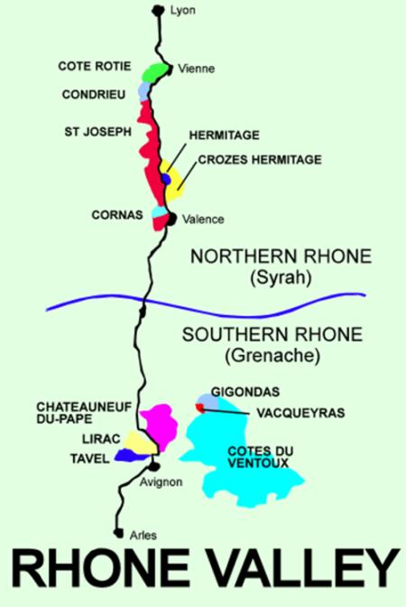 rhone norte mapa