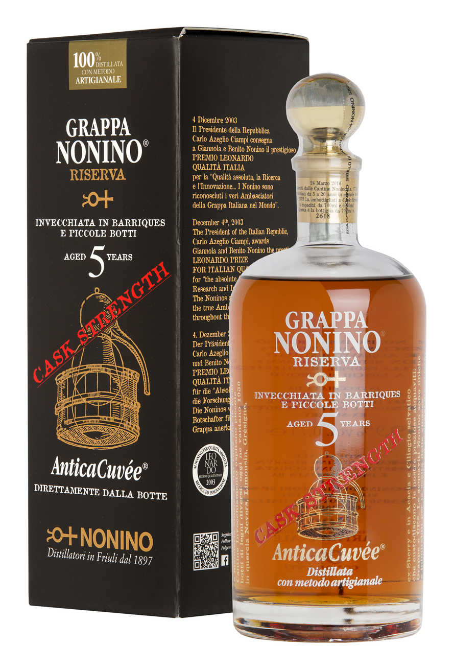 grappa nonino -riserva-5-years-antica-cuvée-cask-strength