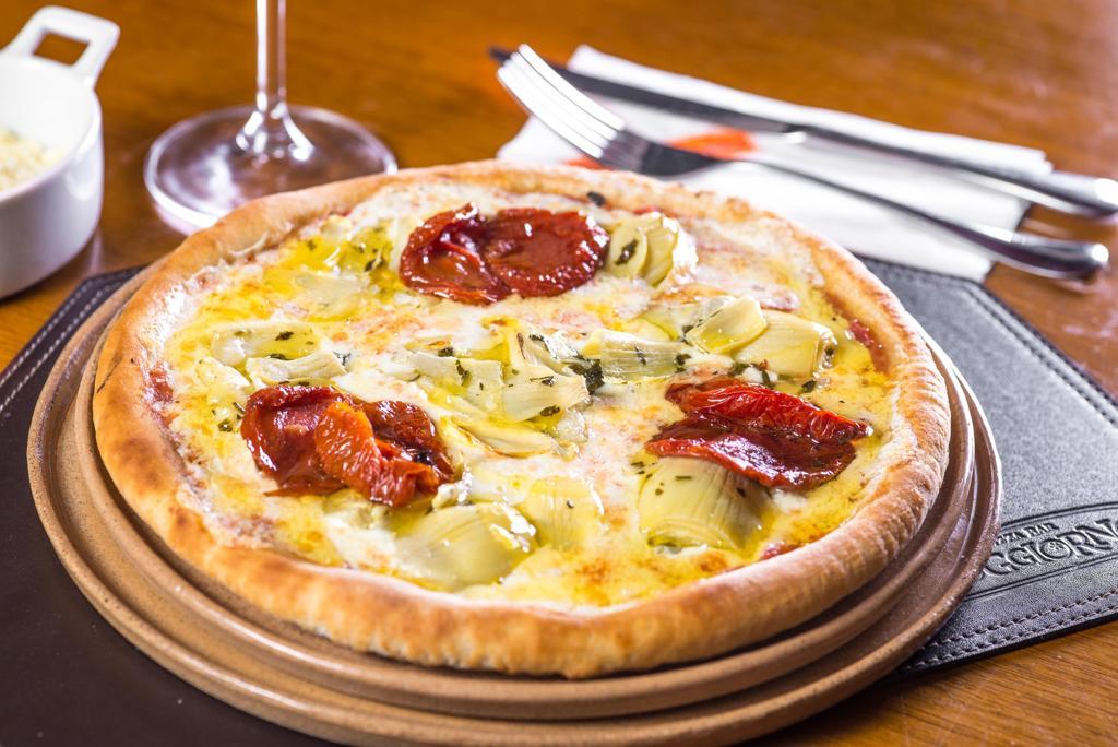 pizza com alcachofra