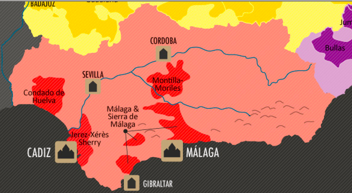 Andalucia wine map