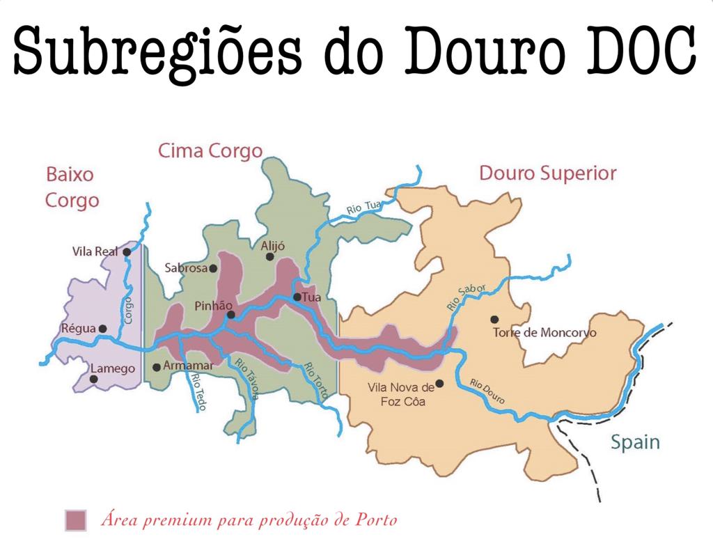 douro região mapa