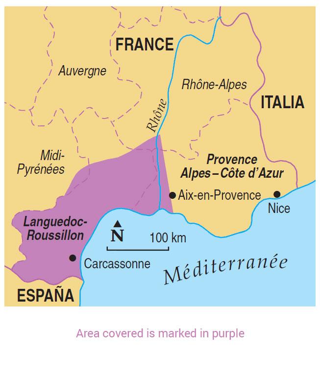 mapa sul da frança
