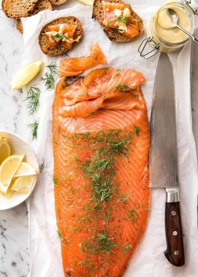 salmão gravlax